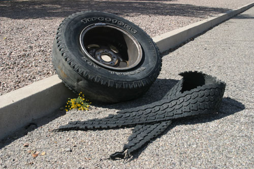 Tire Tread Separation